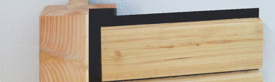 trendige fassadenverkleidung aus holz l rche. Black Bedroom Furniture Sets. Home Design Ideas